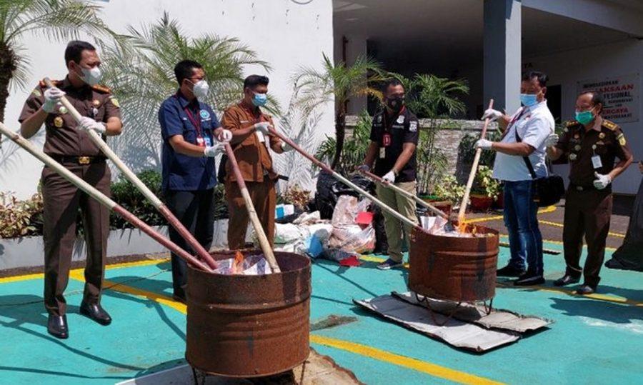 Kejaksaan Negeri Tangerang Musnahkan Barang Bukti Narkotika dari 183 Perkara