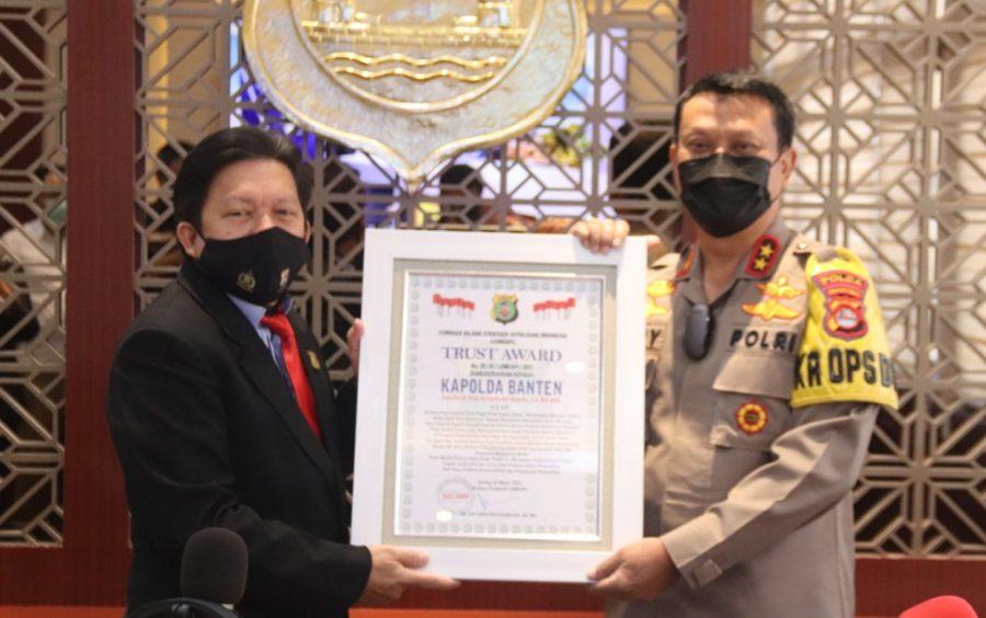 Polda Banten Menerima Penghargaan dari Lemkapi atas Pengungkapan Sindikat Mafia Tanah