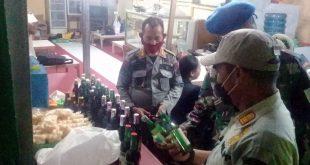 Petugas Gabungan Kota Cilegon berhasil Menyita Minuman Keras di Bulan Ramadhan