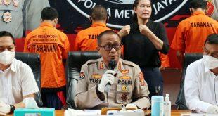 Polda Metro Jaya Tangkap Dua Pengedar 189 Gram Sabu di Kota Tangsel