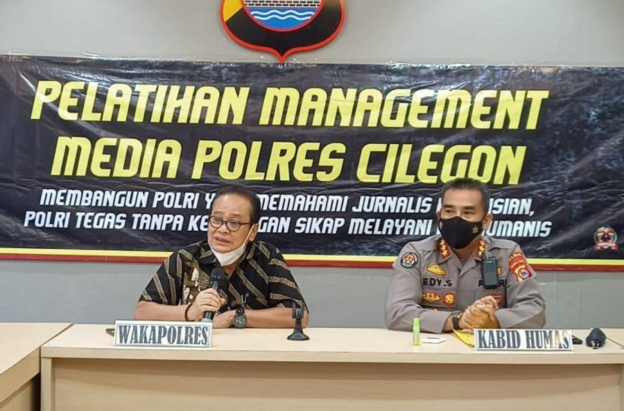"""Polda Banten Gelar Pelatihan """"Jurnalisme Kepolisian"""" di Cilegon"""