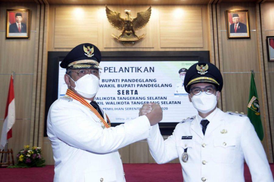 Benyamin Davnie-Pilar Saga Resmi Menjabat Walikota dan Wakil Walikota Tangerang Selatan