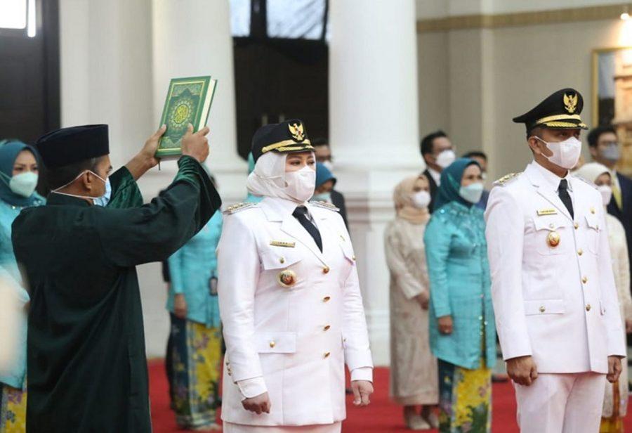 Irna-Tanto Resmi Dilantik Lagi Menjadi Bupati dan Wakil Bupati Pandeglang