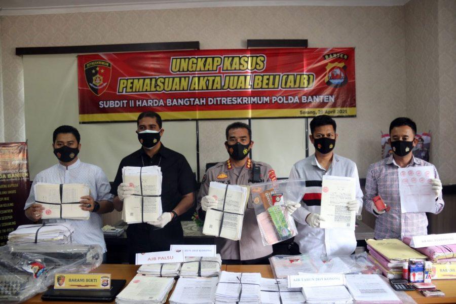 Satgas Mafia Tanah Ungkap Penangkapan Tersangka Pemalsuan 690 AJB Palsu