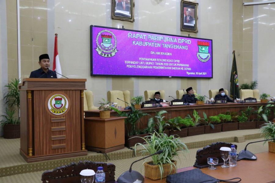DPRD Serahkan 22 Rekomendasi LKPJ Bupati Tangerang Tahun 2020