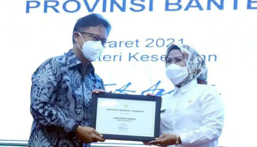 Kabupaten Serang Raih Penghargaan Eradikasi Frambusia dari Kemenkes
