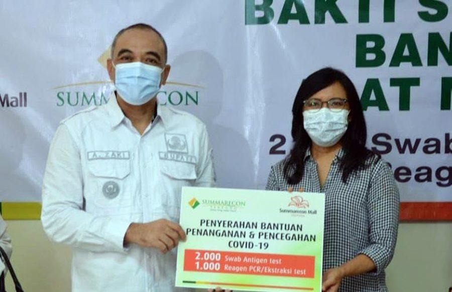Bupati Zaki Terima Langsung Bantuan CSR Dari Sinarmas Land dan 3 Perusahaan Lainnya