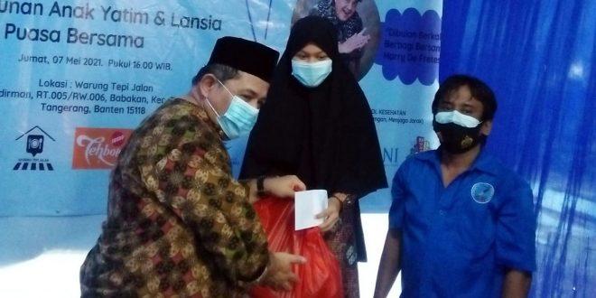 KJK Bersama KPM Gelar 'Ramadhan 1442 H, Berbagi Berkah' Santunan Anak Yatim