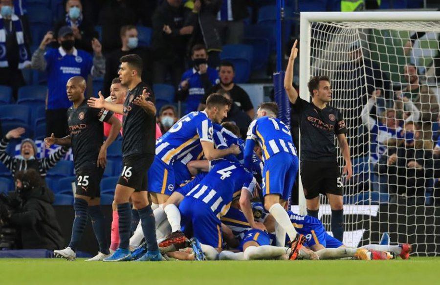 Manchester City Dikalahkan Brighton 2-3