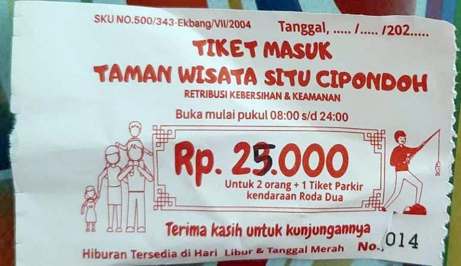 Parah.!! Pengunjung Harus Bayar Rp.25.000 ke Tukang Parkir di Taman Wisata Situ Cipondoh
