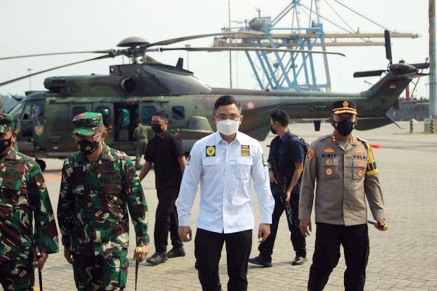 Tinjau Pelabuhan Merak, Doni Monardo Apresiasi Kasus Covid-19 Banten Turun