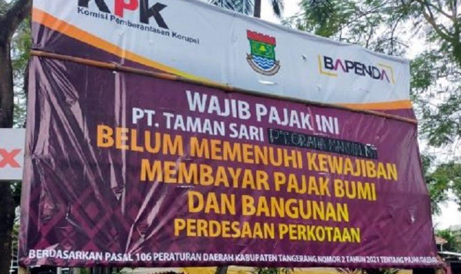 PT.Taman Sari Tunggak Pajak Hingga 3,2 Miliar, Siap Bayar Dengan Cara Menyicil