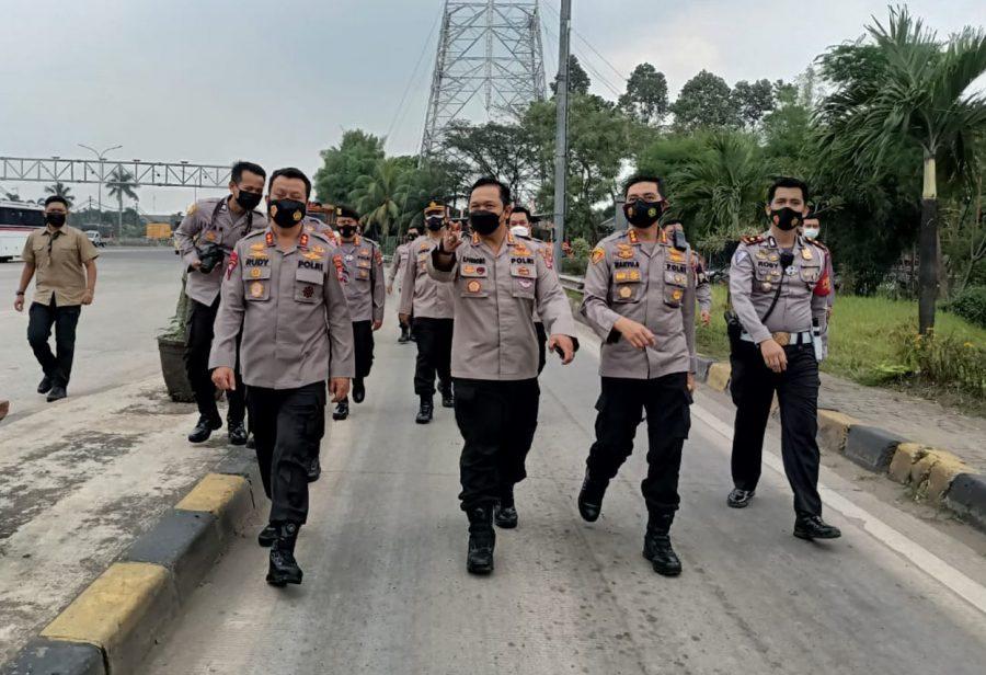 Kapolda Banten Tinjau Pos Pengamanan Jalur Mudik Lebaran