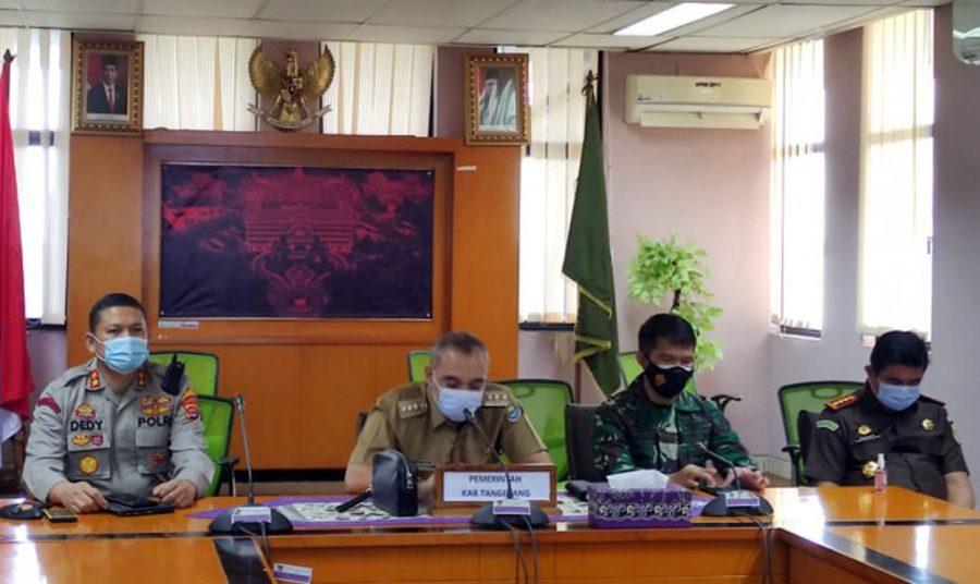 Bupati Tangerang dan Unsur Forkopimda Ikuti Rakornas Penanganan COVID-19