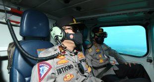 Kabaharkam Polri Pantau Lalin Mudik Gunakan Helikopter