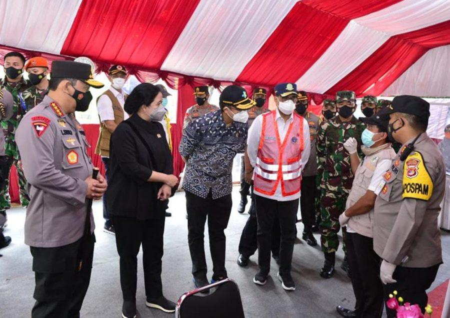 Kapolri Tinjau Penyekatan Mudik dan Libur Wisata di Pelabuhan Merak Banten