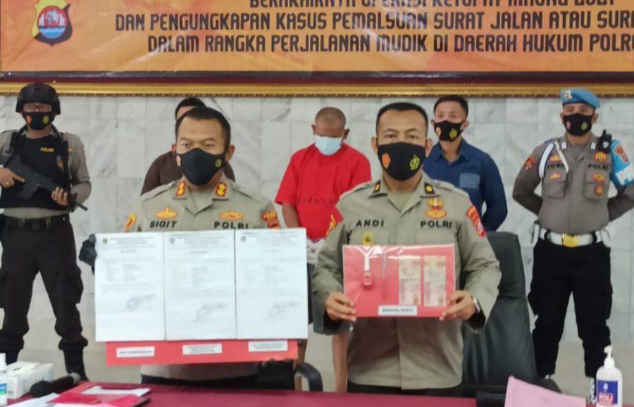 Penjual Surat Keterangan Palsu untuk Pemudik Ditangkap Polres Cilegon