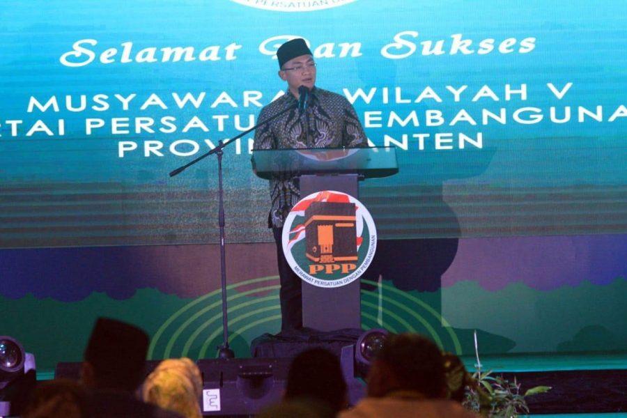 Wakil Gubernur Hadiri Musyawarah Wilayah V DPW PPP Provinsi Banten