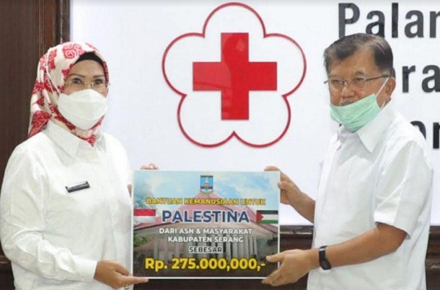 Pemkab Serang Berikan Donasi untuk Palestina Via PMI