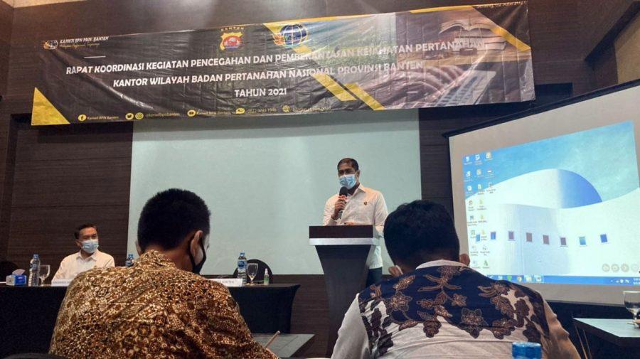 Dirreskrimum Polda Banten Ikuti Rakor Pencegahan Kejahatan Pertanahan
