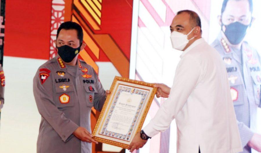"""Bupati Zaki Dampingi Kapolri Resmikan Gedung """"Presisi"""" Mapolresta Tangerang"""