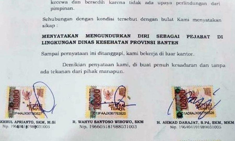Kasus Korupsi Masker, 20 Pejabat Dinkes Banten Serentak Mengundurkan Diri