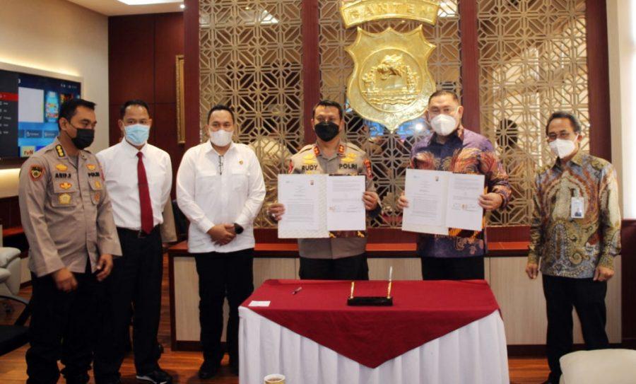Penyediaan Fasilitas Jasa Perbankan Syariah, Polda Banten Lakukan MoU dengan BSI