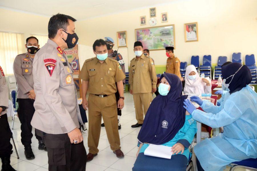 Selama PPKM Darurat Polda Banten Sudah Memvaksinasi 27.430 Orang