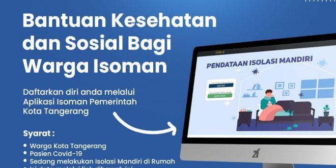 Pakai Aplikasi Ini, Warga Kota Tangerang yang Isoman Dapat Bantuan Sosial dan Kesehatan