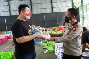 Polda Banten Terima Bantuan Beras Peduli Covid-19 dari Gama Group Banten