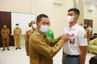 54 Pelajar Kota Serang Mengikuti Pelatihan Paskibra Peringatan HUT RI Ke 76