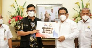 Pemkab Pandeglang Terima Bantuan Tabung Oksigen Dari Kadin Banten