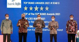 Bank Bjb Raih Empat Penghargaan TOP BUMD Awards 2021