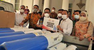 Kadin Banten Berikan Bantuan Tabung Oksigen Kepada Pemkab Lebak