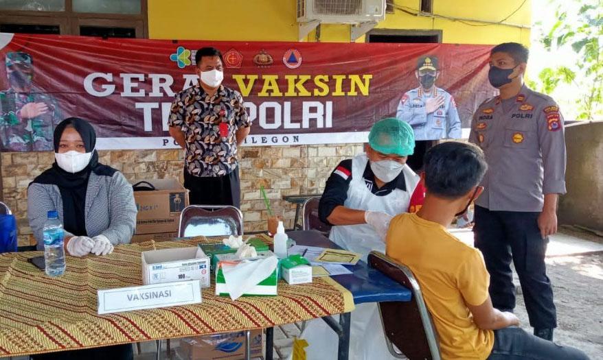 Sie Dokkes Polres Cilegon Laksanakan Vaksinasi Presisi 1000 Dosis di Tiga Lokasi Berbeda